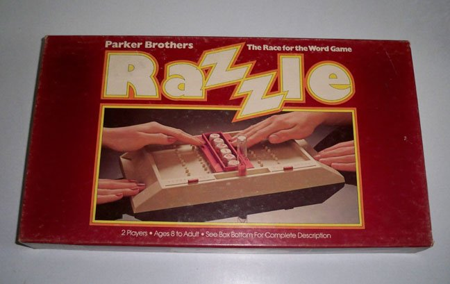 Vintage 1981 Parker Brothers Razzle The Race for the Word Game