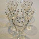 Vintage 22kt Gold Cocktail Glasses - set of 7
