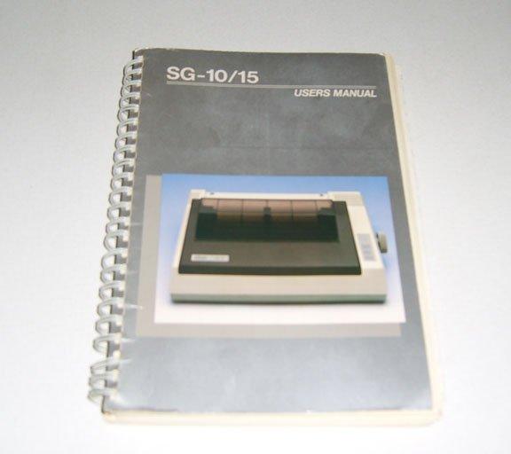 Star SG-10/15 Printer Users Manual - 1984