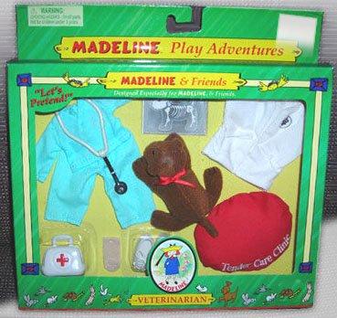 Eden Toys 2000 Madeline & Friends Veterinarian Play Adventure NIB