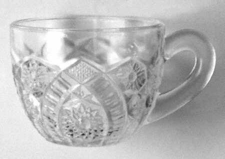 Vintage McKee The Concord Clear Punch Cup Set of 3