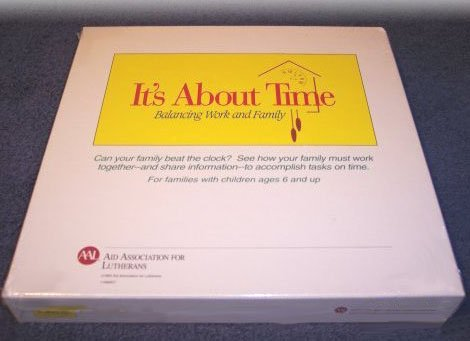 Vintage 1993 It's About Time Board Game - Aid Association for Lutherans MIB