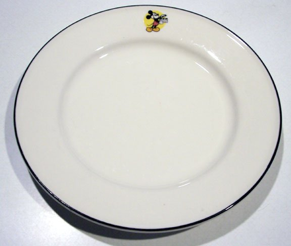 "Vintage Buffalo China Mickey Mouse Plate 8 1/4"""