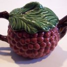 Andrea by Sadek Jay Willfred Majolica Teapot - Grape