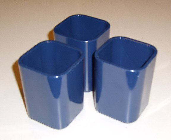 Smith Metal Arts  Radius One Plastic Dark Blue Pencil Cup - Set of 3