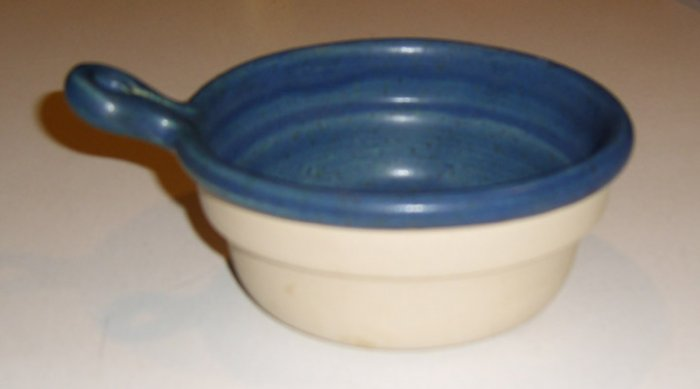 Bennington Potters Stoneware Handled Onion Soup Bowl #1894 (bowl only) - Dark Blue Set of 4