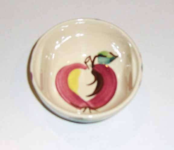 Vintage PURINTON Apple Soup or Fruit Bowl ( Indented Handled )