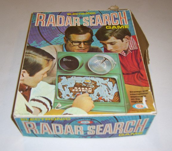 Vintage Ideal 1969 Electronic Radar Search Game