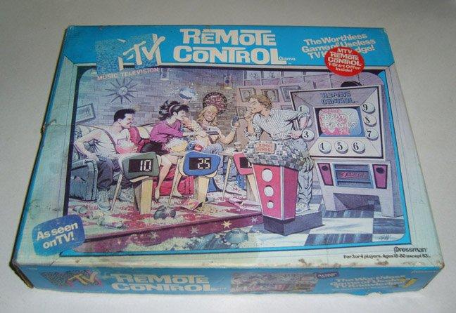 Vintage Pressman 1989 MTV Remote Control Game