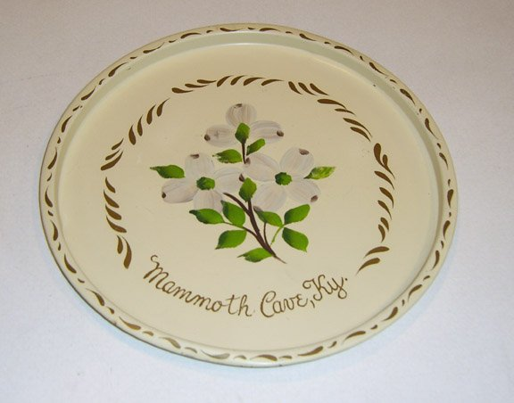 Vintage Nashco Products Handpainted Mammoth Cave Kentucky Metal Tray