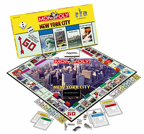 2001 USAopoly Monopoly New York City Edition Board Game