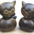 Vintage Howard Holt Cat Salt and Pepper Shakers MIJ
