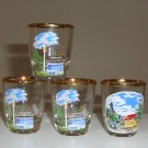 Vintage Souvenir Shot Glass - Munich Kreuzberg Rhon Germany Set of 4 - 1972 Olympics