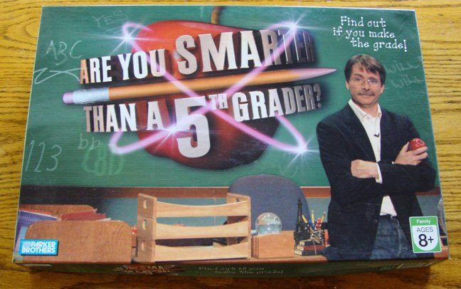 2007 Parker Brothers Are You Smarter Than a 5th Grader? Game