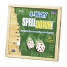 2004 Cadaco 242 4 Way Spelldown Wooden Spelling Game