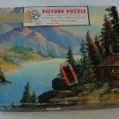 Vintage 1961 Tuco Interlocking Tripl-Thick Wood Like Puzzle #4980 A - A Mountain Retreat