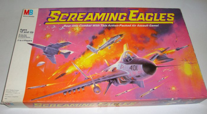 Vintage 1987 Milton Bradley Screaming Eagles Board Game