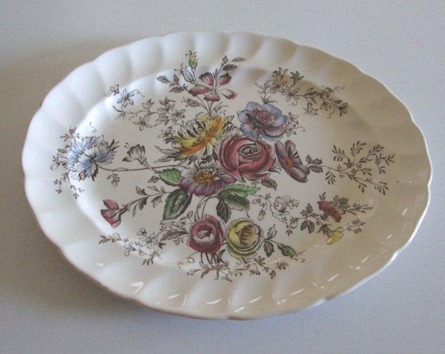 Vintage Johnson Brothers Sheraton Oval Platter