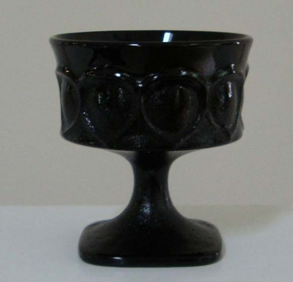 Vintage Noritake Spotlight Ebony Black Champagne / Tall Sherbet Glass Set of 6