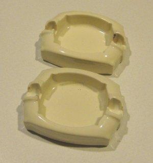 Village National Porcelain Guardsman G-03 Safety Ash Tray Set of 2