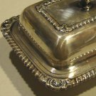 Vintage Silver Plated Oneida Ltd Small Covered Butter Dish