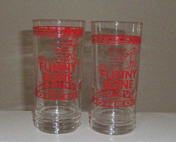I'm been boned! The Funny Bone Comedy Club Buffalo NY Glass Tumblers Set of 4