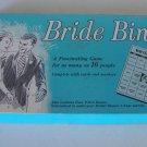 Vintage Bridal Shower Game Bride Bingo 1970