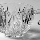 Vintage Hazel-Atlas Williamsport Clear Glass Punch Cup Open Handle - Set of 3