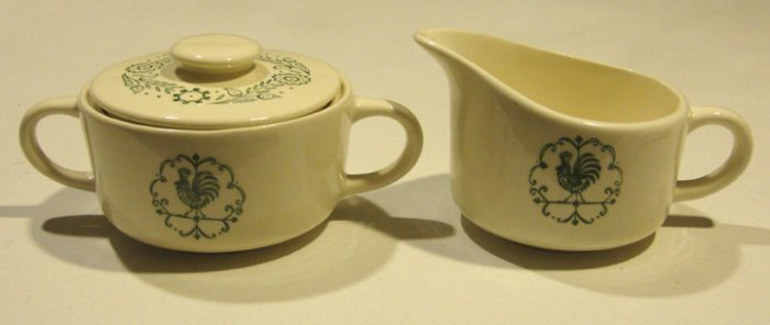 Vintage 1960s Scio Provincial Creamer and Sugar Bowl with Lid