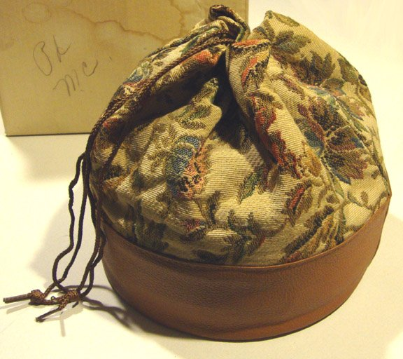 Vintage 1960s Oster Model 241-07 Bonnet Hair Dryer with Tapestry Carrying Bag MIB