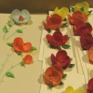 Vintage Handcrafted Shell Flower Place Cards - Set of 30