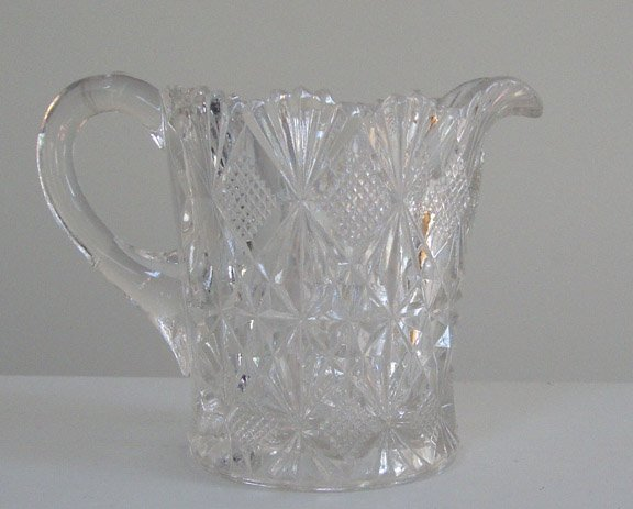 Vintage McKee Glass Co. Teutonic Clear Syrup Pitcher / Creamer