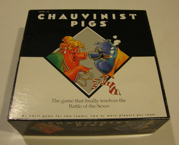 Vintage 1991 Tiger Games Chauvinist Pigs Game