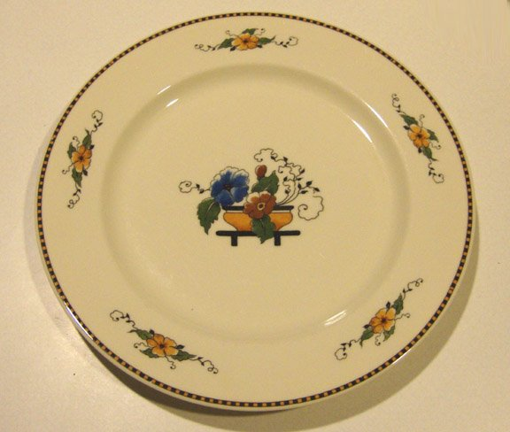 Vintage Syracuse China Old Ivory Chiquita Luncheon Plate Set of 4