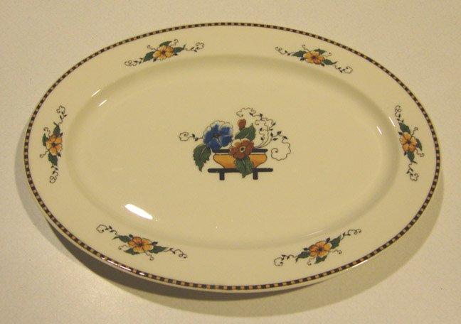 "Vintage Syracuse China Old Ivory Chiquita 10"" Oval Serving Platter"
