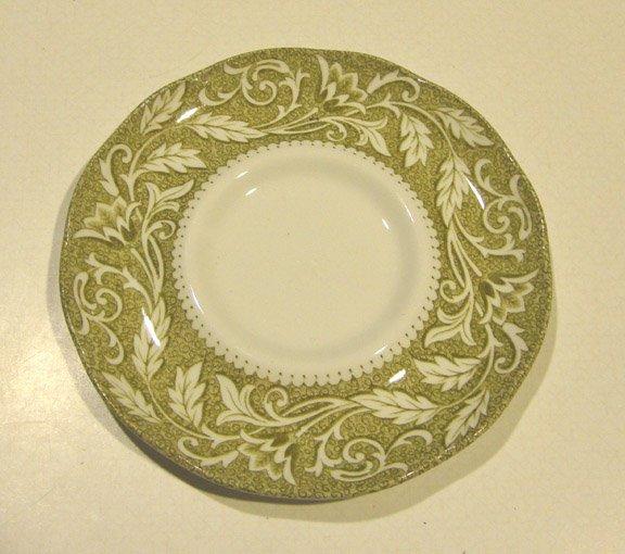 Vintage J & G Meakin Renaissance Green Saucer only (no cups) - Set of 5