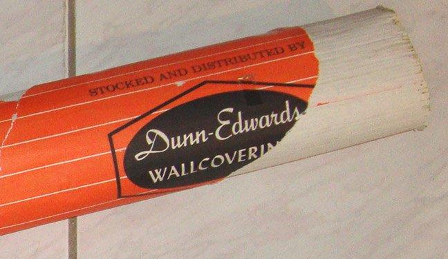 Vintage Dunn-Edwards Olive Green Grasscloth Wallpaper Korea