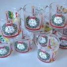 Vintage 1985 Luminarc Christmas by Carlton 12 Days of Christmas Replacement Glass Mug