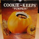 Vintage Over & Back Inc. Ceramic Pumpkin Cookie Keep - Portugal MIB