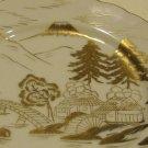 Vintage Kutani 22Kt Gold Hand Painted Mt. Fuji Scenic Dessert Pie Plate - Set of 6 MIJ