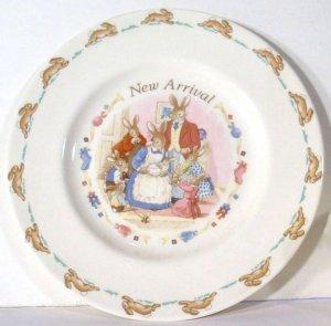 Vintage 1994 Royal Doulton Bunnykins New Arrival Baby Set - Mug & Plate MIB