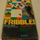 Vintage 1978 Warren Fribble! Board Game