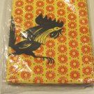 Vintage 1950s Rooster Paper Tablecover Mint in Original Wrap
