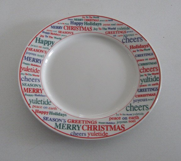 Vintage Gibson Christmas Holiday Greetings Luncheon / Salad Plate -  Set of 4