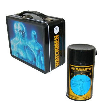 NECA Dr. Manhattan Tin Litho Lunchbox with Drink Container