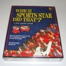 Vintage 1998 Buffalo Games Which Sports Star Did That? Quiz Jigsaw Puzzle 252 Pc
