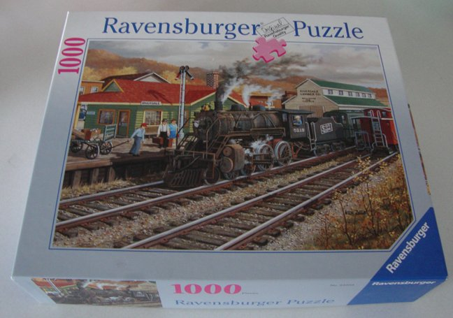 2005 Ravensburger Memory Junction Train Jigsaw Puzzle 1000 Pc