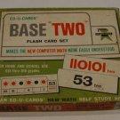 "Vintage 1967 Ed-U-Cards Base ""Two"" Flash Card Set #350 Computer Math"