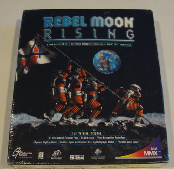 Vintage 1997 Rebel Moon Rising WIN 95 NIB NEW Software
