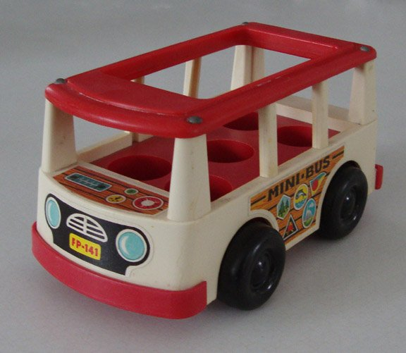 Vintage 1969 Fisher PriceLittlePeople Mini Bus 141